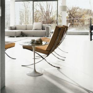 barcelona chair in karamell