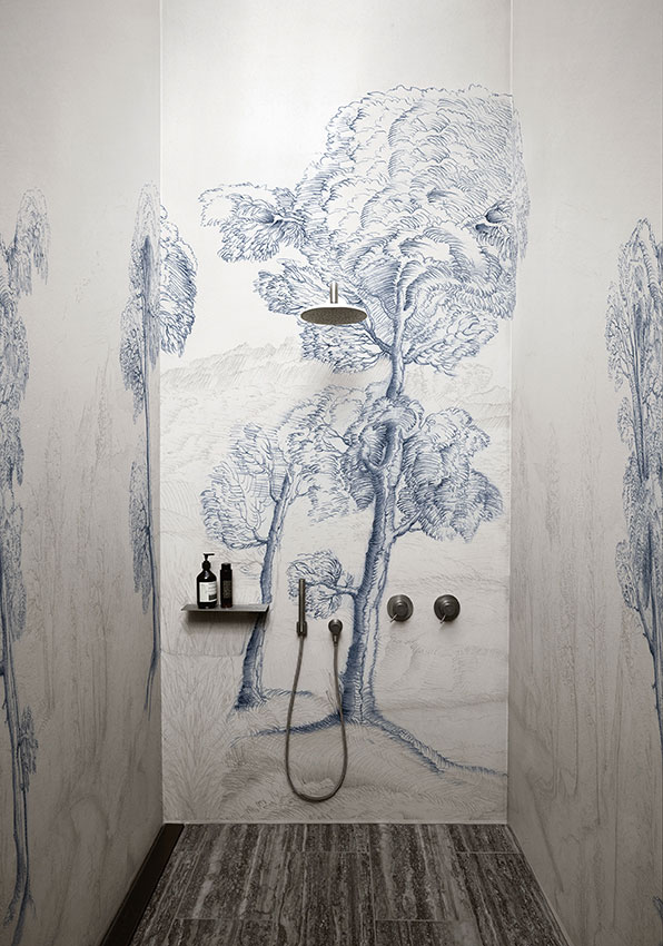 tapete in der dusche
