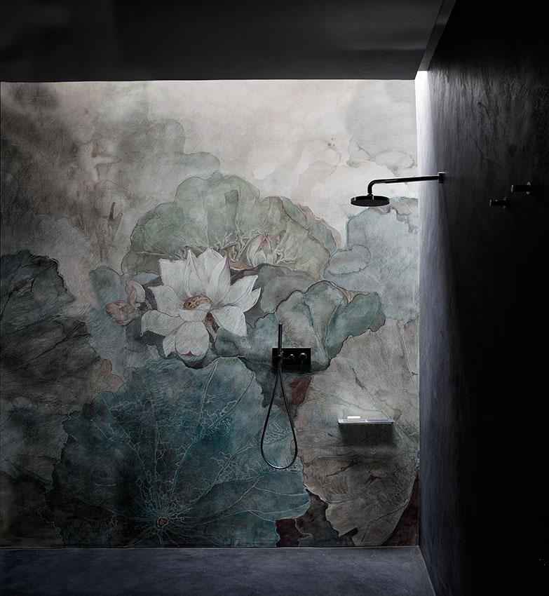 badezimmer tapete von wall&deco