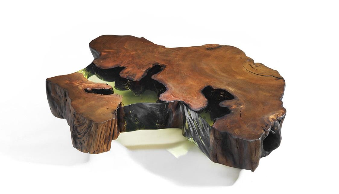 Tisch aus Kauri-Holz von Riva 1920