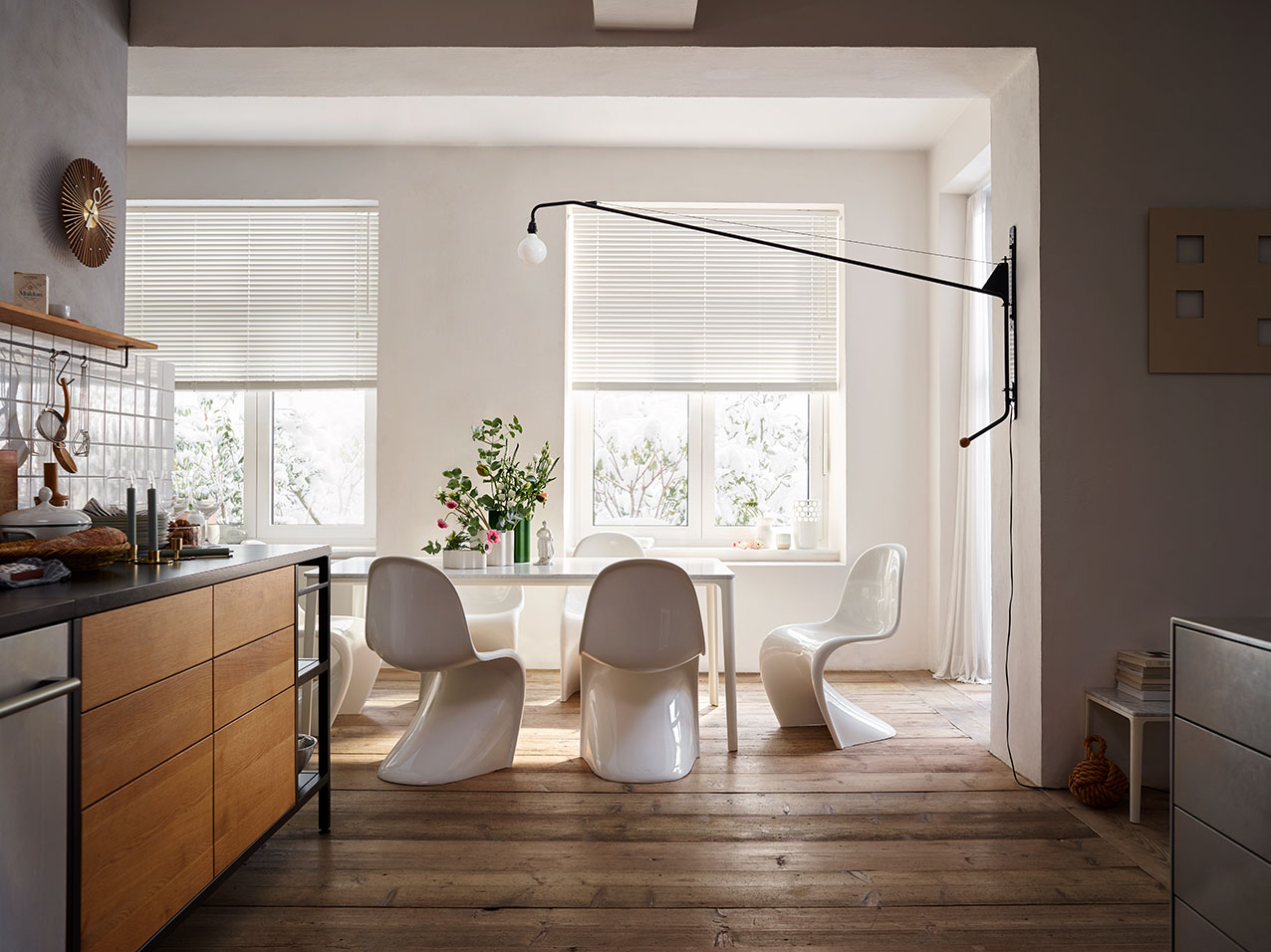 panton stühle weiß esszimmer