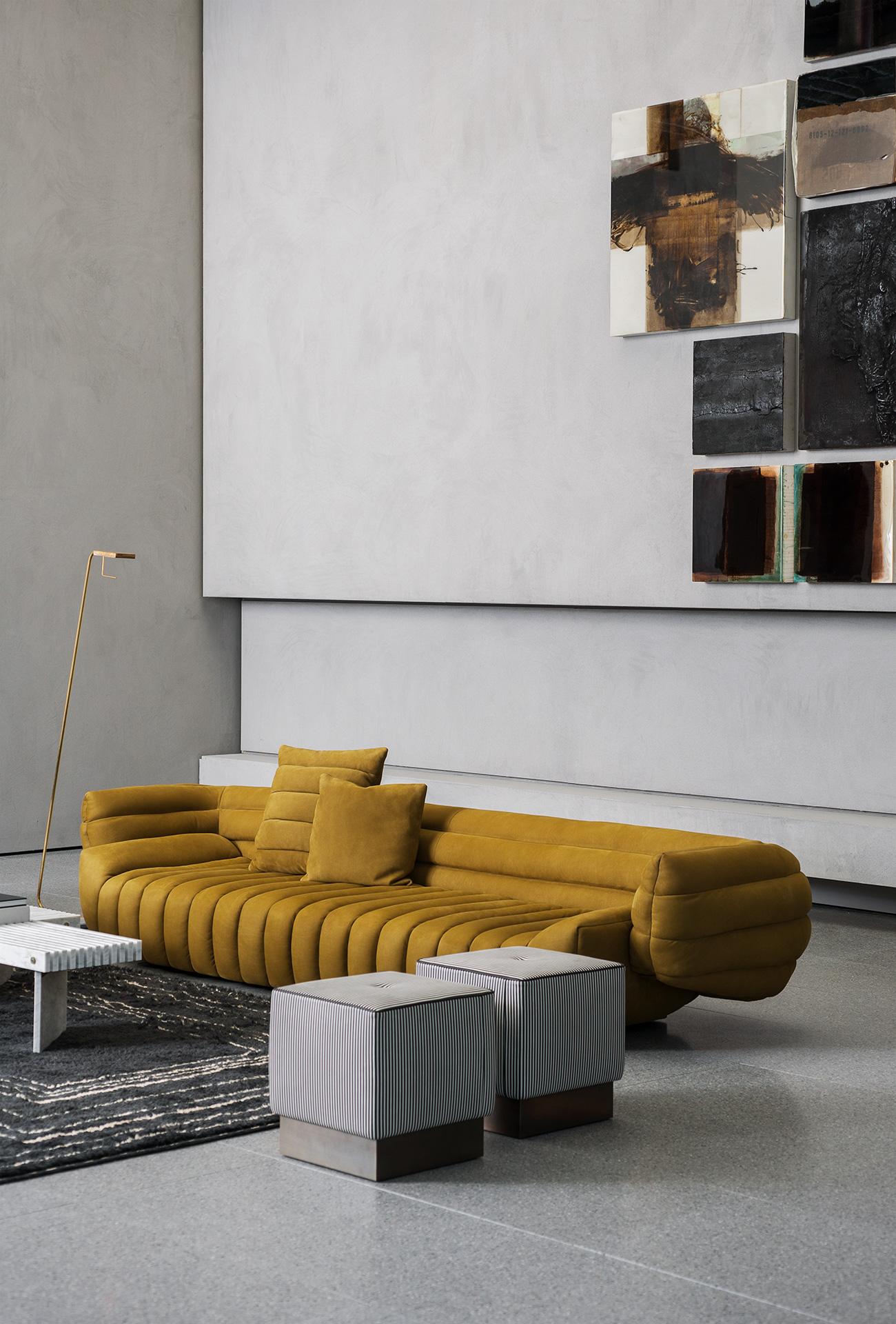 baxter sofa gelb