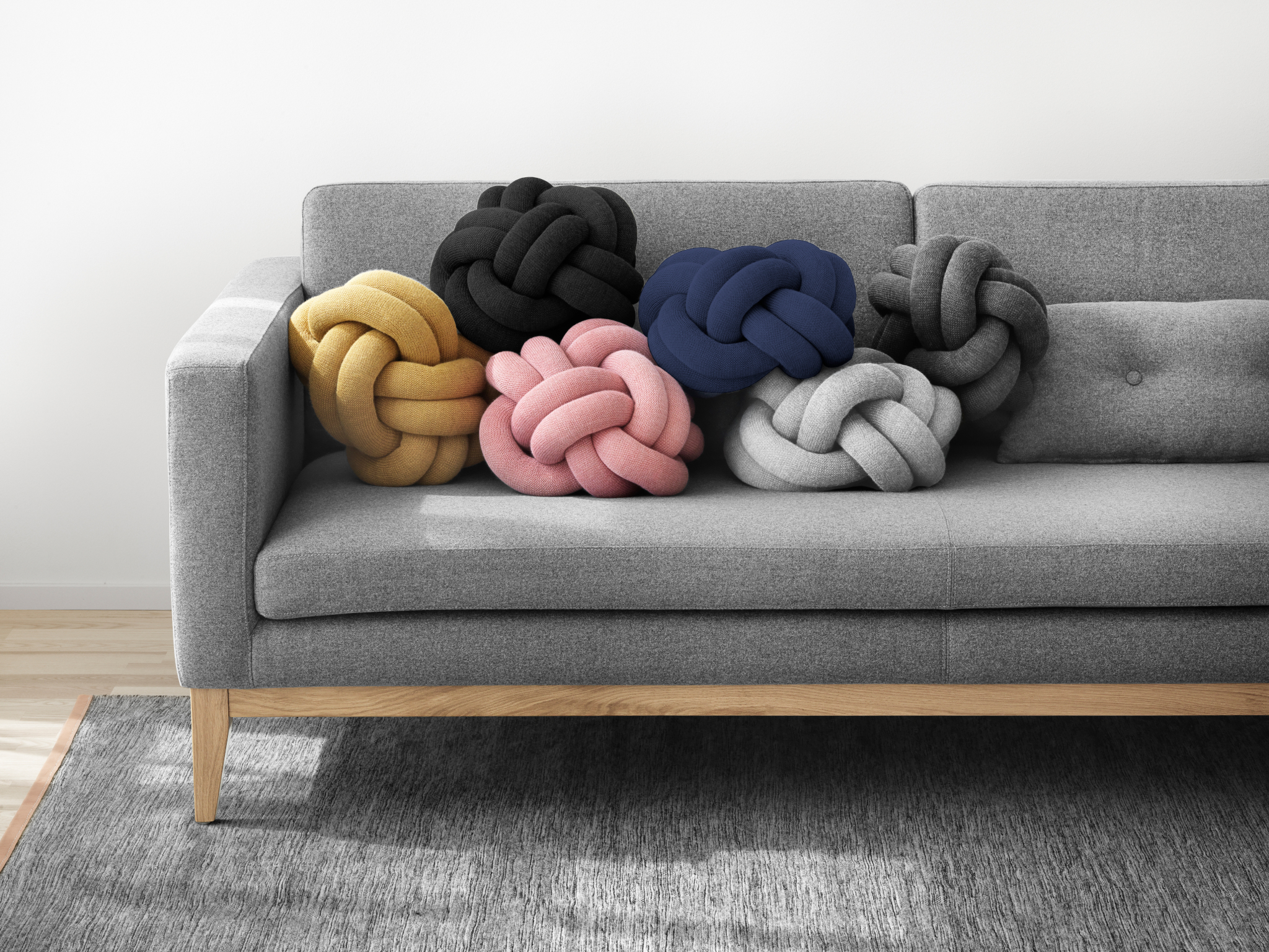 Knotenkissen knot cushion von design house stockholm
